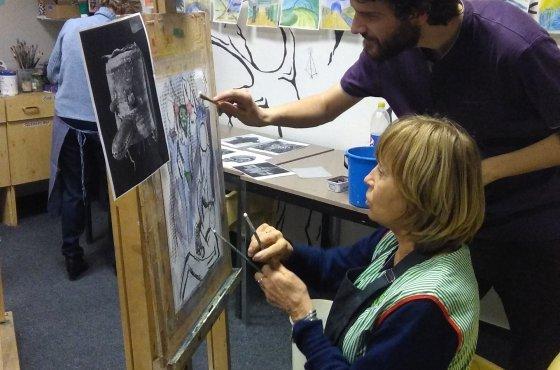 Workshop Kreativni Kresby A Malby Atelier Montmartre